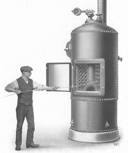 Early Davey Paxman Vertical Boilers