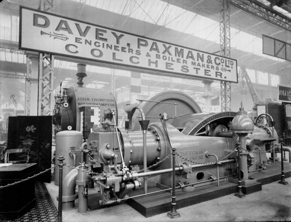 Paxman Gas Engine at the Franco-British Exhibition 1908