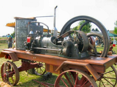 Restored Paxman Gas Engine in France