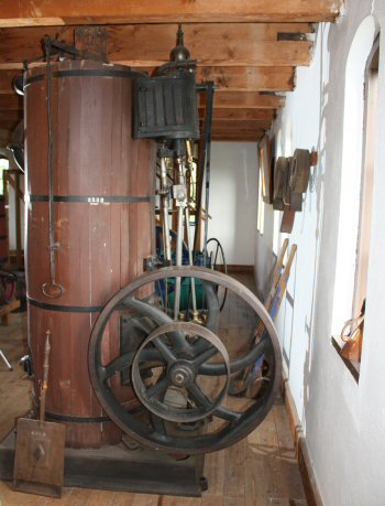 Vertical Steam Engine & Boiler at Arboga Brewery Museum