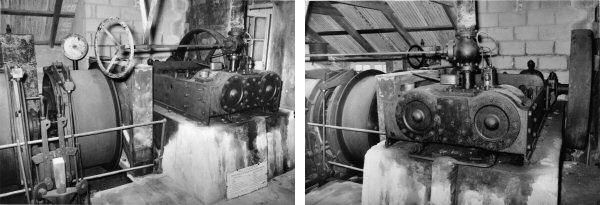 Parkandillick engine and winding drums